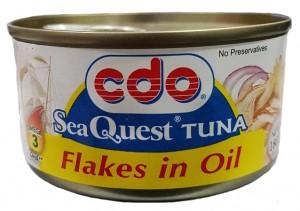 CDO SEA QUEST TUNA FLAKES IN OIL 180G