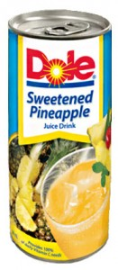 DOLE SWEETENED PINEAPPLE JUICE DRINK