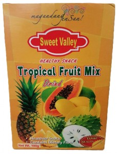 SWEET VALLEY TROPICAL FRUIT MIX DRIED 100G