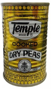 TEMPLE COOKED DRY PEAS 155G