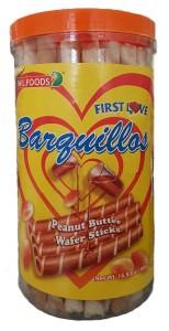 W.L. BARQUILLOS PEANUT BUTTER WAFER STICKS 480G